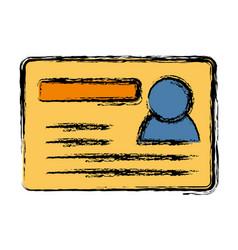 Card id icon vector
