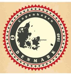 Vintage label-sticker cards of denmark vector