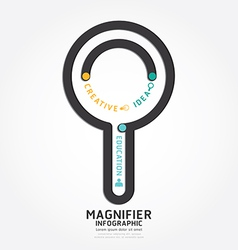 Infographics magnifier design diagram line vector