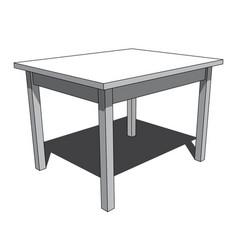 3d image - simple isolated desk vector