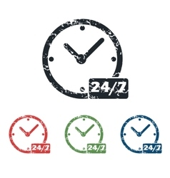 Overnight daily grunge icon set vector