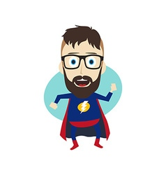 superhero cartoon vector image