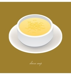 Cheese soup vector