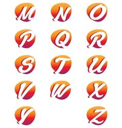 Creative alphabet letters design vector