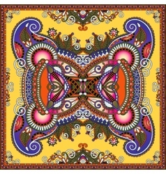 authentic silk neck scarf or kerchief square vector image