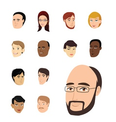Faces collection vector