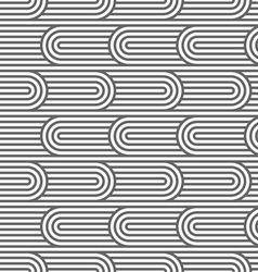 Striped curved seamless pattern vector