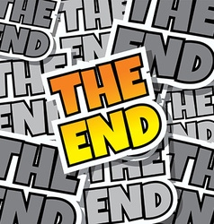 Cartoon comic text the end vector