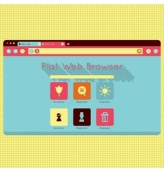 Retro vintage web browser interface vector