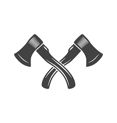 Two crossed axes Logo elements Black and white vector image