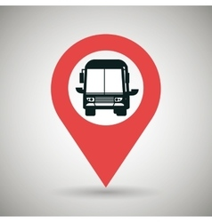 Red signal of black bus isolated icon design vector