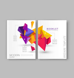 A brochure template modern vector