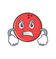 Angry bowling ball character cartoon vector