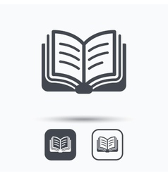 Book icon Study literature sign vector image vector image