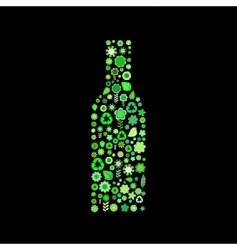 bottle shape vector image vector image