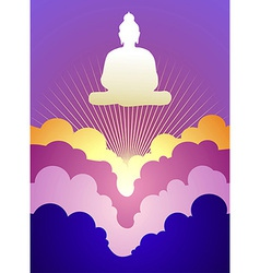 Buddha at sunrise vector
