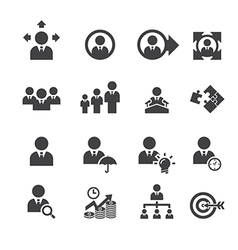 business and management icon vector image vector image