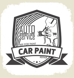 Car paint auto service vector
