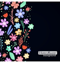 Colorful flowers background vector image