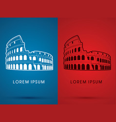 Colosseum building vector