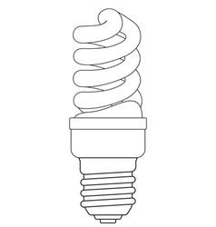 Contour energy saving lamp vector image vector image