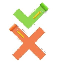 Cross check symbol yes or no vector