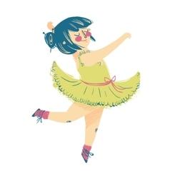 Cute little ballerina in beautiful dress vector image vector image