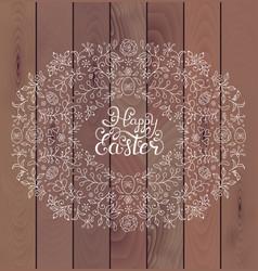 Floral easter frame vector