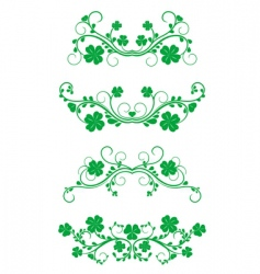 Floral frames with clover vector