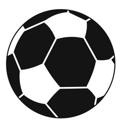 football ball icon simple style vector image