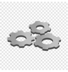 Gears isometric icon vector