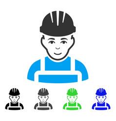 Happy mechanic flat icon vector
