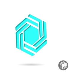 Hexagonal design sign vector