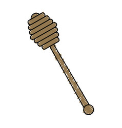 Honey spoon isolated icon vector