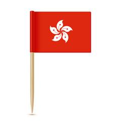 hong kong flag flag toothpick 10eps vector image vector image