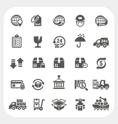 Logistics and shipping icons set vector