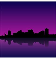 Manila bay skyline manila cityscape vector