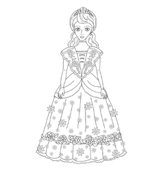 princess in ancient dress vector image vector image