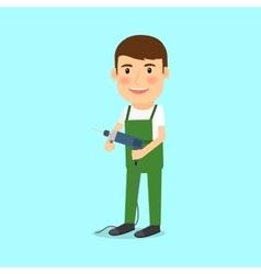 Repairman in cartoon style vector