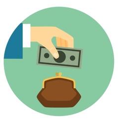 Save Money Icon vector image vector image