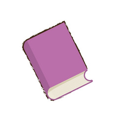 Sketch purple book learning vector