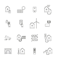Smart Home Icon Outline vector image