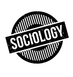 Sociology rubber stamp vector