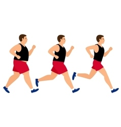 Weight loss running man vector image