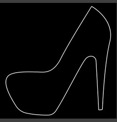 woman shoes the white path icon vector image vector image
