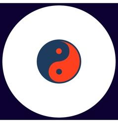 Ying-yang computer symbol vector