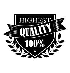 100 Highest Quality label vector image