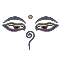 Buddha eyes nepal symbol of wisdom and vector