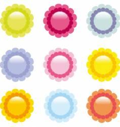 daisy icons vector image