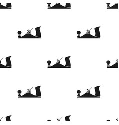 Jack plane icon in black style isolated on white vector